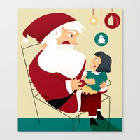 SANTA IS COMING TO TOWN Canvas Print