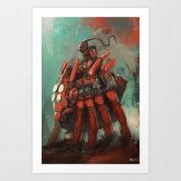 Spider rider Art Print