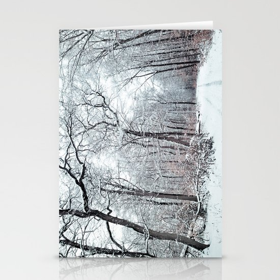winter canopy Stationery Card