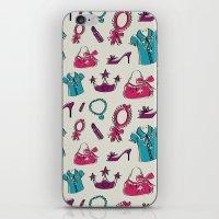 Lady pattern iPhone & iPod Skin