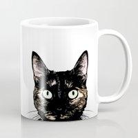 Peeking Cat Mug