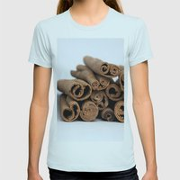 Cinnamon Spice - Kitchen Still Life Womens Fitted Tee Light Blue SMALL