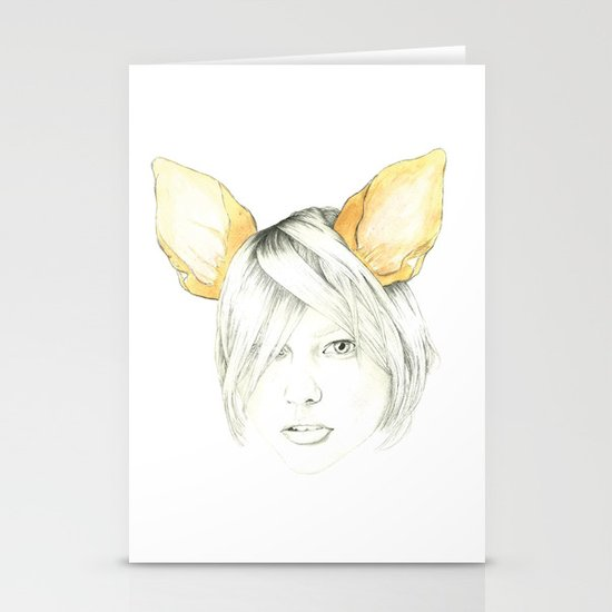 Chihuahua girl Stationery Card