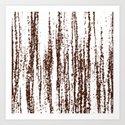 Birch Winter Sepia Art Print