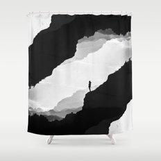 White Isolation Shower Curtain