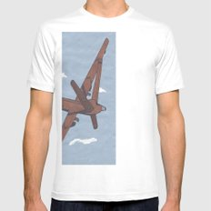 Predator Drone (Unmanned, USA) SMALL Mens Fitted Tee White