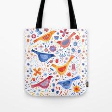 Birds in a Garden Tote Bag