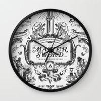 Legend of Zelda Vintage Master Sword Advertisement Wall Clock