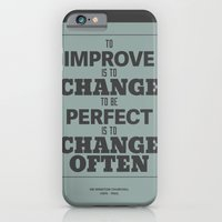 'To Improve Is To Change… iPhone 6 Slim Case