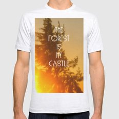 The forest Mens Fitted Tee Ash Grey SMALL