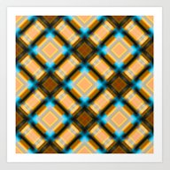 Square Pattern Serie 1 Y… Art Print