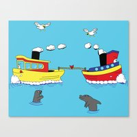 TUG BOAT OF WAR Canvas Print
