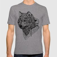 Mr Wolf Mens Fitted Tee Tri-Grey SMALL