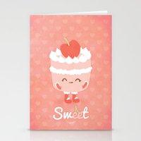 Sweet Cherry Cake Stationery Cards