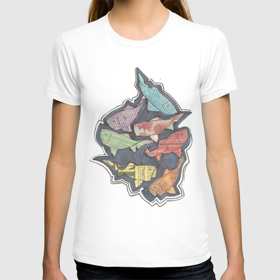 Newspaper Fish T-shirt