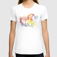 Flower Burst Color High Womens Fitted Tee White SMALL