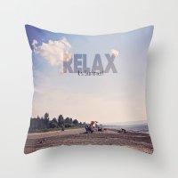 Relax It's Summer Throw Pillow