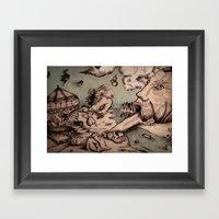 Deadly Sins Valley Framed Art Print