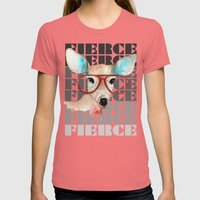Did You Say Fierce? Womens Fitted Tee Pomegranate SMALL