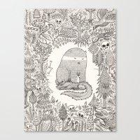 Froggle, Doggle And Pogg… Canvas Print
