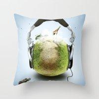 Wildlife Music Edition Throw Pillow