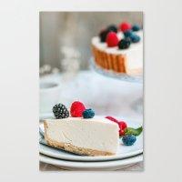Canvas Print featuring ICE CREAM CAKE by Ylenia Pizzetti