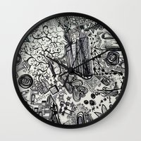 Black/White #2 Wall Clock