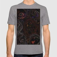 Digital Art Abstract Mens Fitted Tee Athletic Grey SMALL