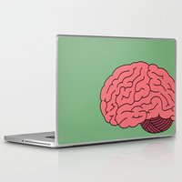 brain Laptop & iPad Skins featuring BRAIN. by The Salty Brain