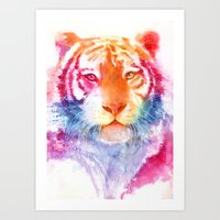 Rainbow stripes Art Print