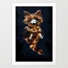 Rockets Raccoon Art Print