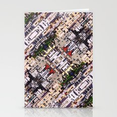 Scene Of City Structures Stationery Cards