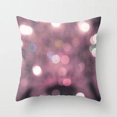 Pink Bokeh Throw Pillow