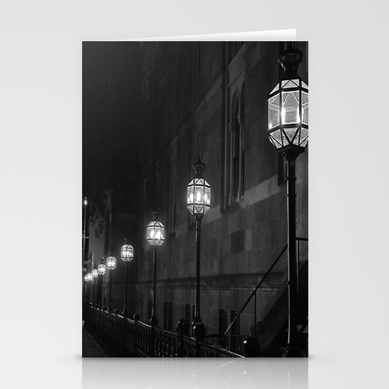 Late Night Lights Stationery Card