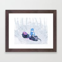 Samurai Monkey Framed Art Print