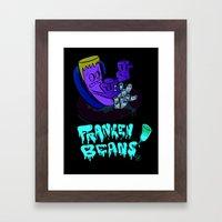 Franken Beans Framed Art Print