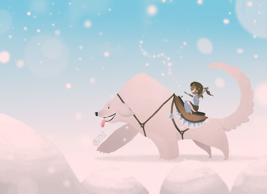 Korra Snowbending Art Print