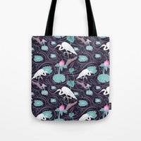 Dance of the Egret Tote Bag