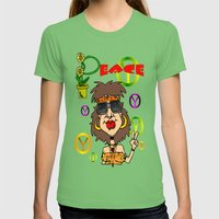 PEACE Womens Fitted Tee Grass SMALL