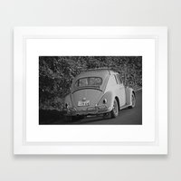 Punch Bug In BNW Framed Art Print