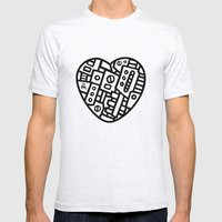 Iron Heart (B&W Edition)… Mens Fitted Tee Ash Grey SMALL