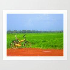 a ride in greenlush Art Print