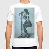 Belt It Out Mens Fitted Tee White SMALL