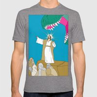 Jesus, Etc. Mens Fitted Tee Tri-Grey SMALL