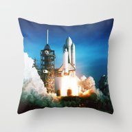Space Shuttle Launch Throw Pillow