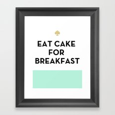 Eat Cake for Breakfast - Kate Spade Inspired Framed Art Print