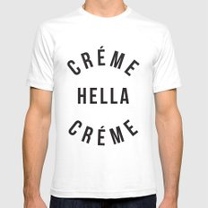 Créme Hella Créme Mens Fitted Tee White SMALL