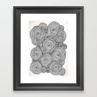 Bear Squiggles Framed Art Print