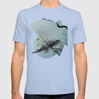 Roma Parco Mens Fitted Tee Athletic Blue SMALL