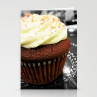 Red Velvet Cupcake Stationery Cards